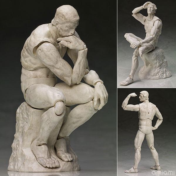 figma テーブル美術館 考える人 石膏ver.(再販)[フリーイング]《発売済・在庫品》