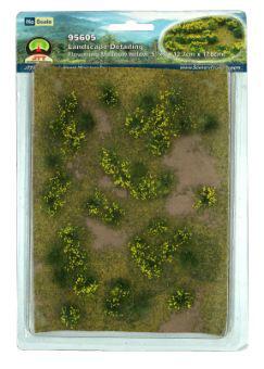 ジオラマシート 黄色い花が咲いた草地 HOスケール[JTTミニチュアツリー]《在庫切れ》