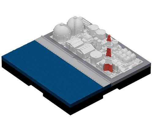 ジオクレイパー 拡張ユニット #003 コンビナート(再販)[日本卓上開発]《発売済・在庫品》