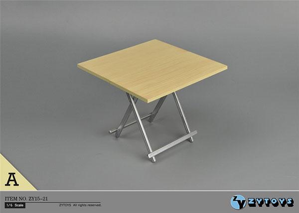 1/6 折りたたみテーブル (ライトウッドカラー)(ZY15-21A)[ZY-TOYS]《在庫切れ》