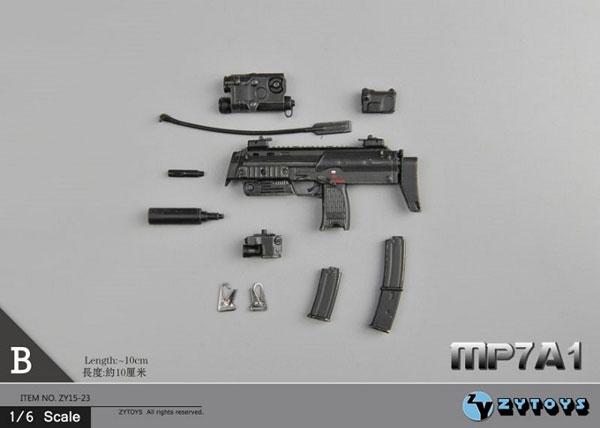 1/6 H&K MP7A1 サブマシンガン B (ZY15-23B)[ZY-TOYS]《在庫切れ》