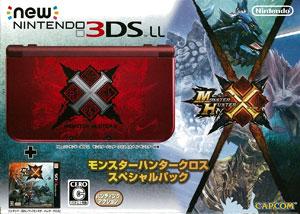 3DS モンスターハンタークロス スペシャルパック (オリジナルテーマダウンロード番号 付)[カプコン]【送料無料】《在庫切れ》