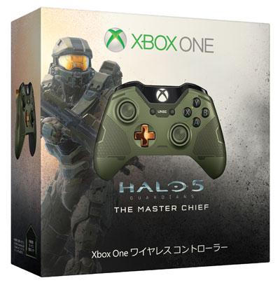 Xbox One ワイヤレス コントローラー(マスターチーフ)(同梱特典:ボーナス交換パック利用コード 付)[日本マイクロソフト]【送料無料】《在庫切れ》