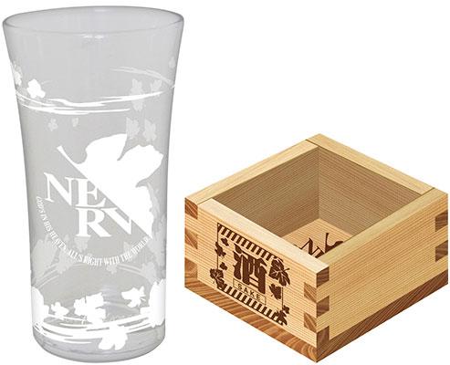 ヱヴァンゲリヲン新劇場版 日本酒グラス&枡セット[ムービック]《在庫切れ》