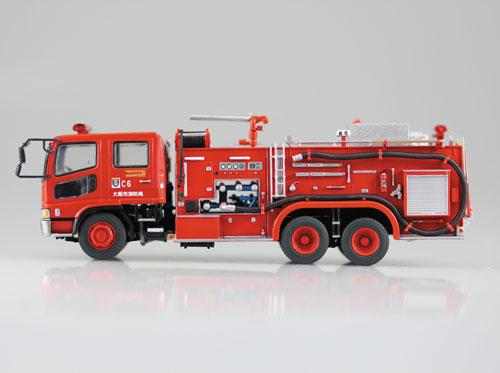 1/72 ワーキングビークル No.1 化学消防ポンプ車(大阪消防局C6) プラモデル[アオシマ]《在庫切れ》