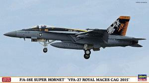 """1/72 F/A-18E スーパーホーネット """"VFA-27 ロイヤルメイセスCAG 2015"""" プラモデル[ハセガワ]《在庫切れ》"""