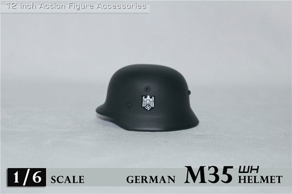 1/6 WWII M35 ヘルメット w/ ドイツ&IDFロゴ (ZY-M35-WH)(ドール用衣装)[ZY-TOYS]《在庫切れ》