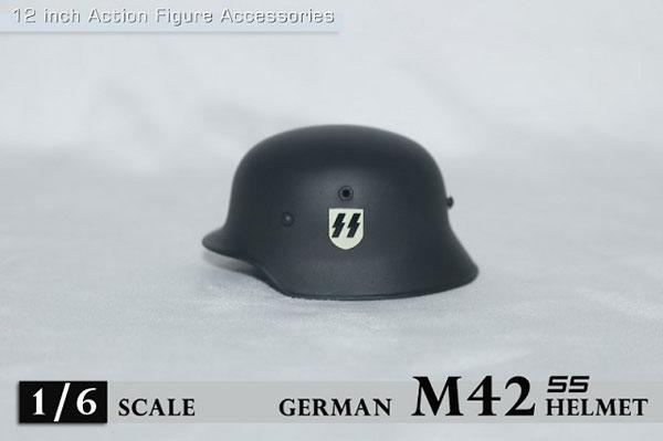 1/6 WWII M42 ヘルメット w/ SSロゴ (ZY-M42-SS)(ドール用衣装)[ZY-TOYS]《在庫切れ》