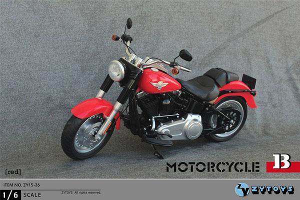 1/6 アメリカンバイク (レッド) (ZY15-26B)(再販)[ZY-TOYS]【送料無料】《在庫切れ》