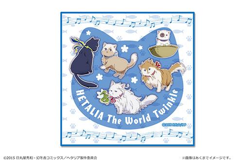 「ヘタリア The World Twinkle」マイクロファイバーハンドタオル【04】ブルー[カナリア]《在庫切れ》
