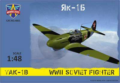 1/48 露・ヤコブレフYak-1B戦闘機 プラモデル(再販)[モデルズビット]《11月予約》