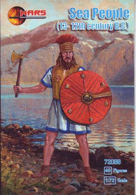1/72 紀元前12世紀・地中海・海の民・40体 プラモデル(ソフトプラ ...