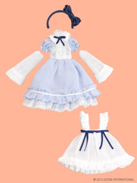 ピコニーモサイズ 1/12 ピコD ELLEN'S CLOSET アリスドレスセット サックス×ホワイト(ドール用衣装)[アゾン]《取り寄せ※暫定》
