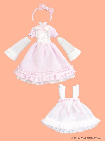 ピコニーモサイズ 1/12 ピコD ELLEN'S CLOSET アリスドレスセット ピンク×ホワイト(ドール用衣装)[アゾン]《在庫切れ》