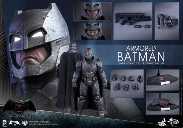 【ムービー・マスターピース】『バットマン vs スーパーマン ジャスティスの誕生』1/6 アーマード・バットマン[ホットトイズ]【送料無料】《在庫切れ》