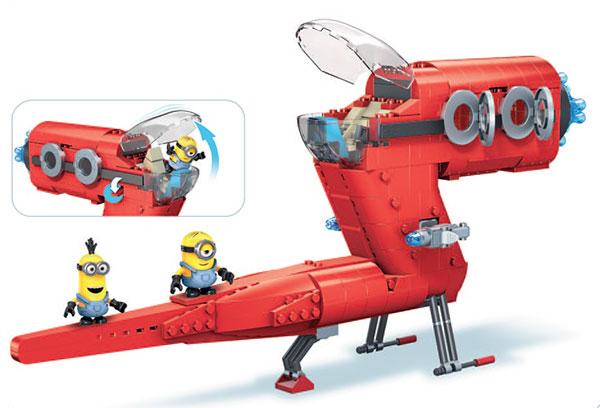 メガブロック ミニオンズ 空飛ぶ悪党スーパージェット[マテル]《在庫切れ》