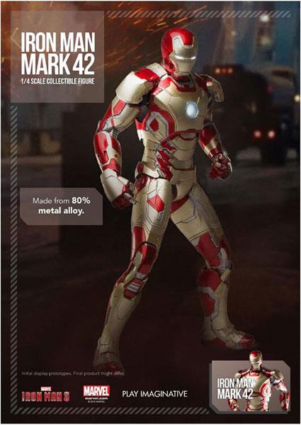 スーパーアロイ/ アイアンマン3: アイアンマン マーク42 1/4 コレクティブル プレミアム フィギュア