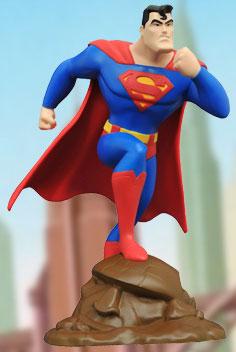 『スーパーマン アニメイテッド』PVCスタチュー【DC ギャラリー】スーパーマン[ダイアモンドセレクト]《在庫切れ》