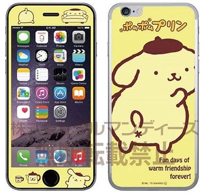 ポムポムプリン iPhone6s/6対応ガラス スクリーンプロテクター アップ(SAN-545A)[グルマンディーズ]《在庫切れ》
