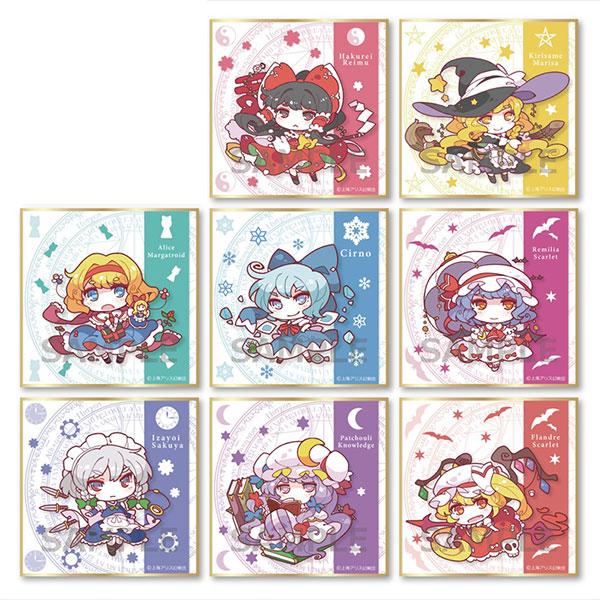 東方Project もきゅふわ トレーディングミニ色紙 8個入りBOX[Gift]《発売済・在庫品》