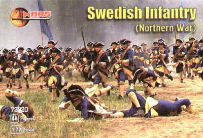1/72 スウェーデン歩兵(18世紀北方戦争) プラモデル(ソフトプラ)(再販)[マース]《在庫切れ》
