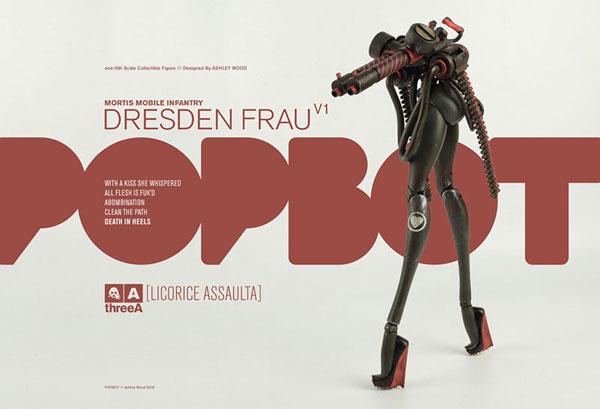 THE WORLD OF POPBOT Dresden Frau Licorice Assaulta(ドレスデンフラウ・リコリスアサルタ) 1/6 可動フィギュア[スリー・エー]《在庫切れ》