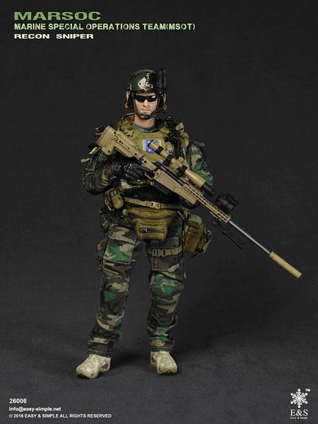 1/6 アメリカ海兵隊特殊作戦チーム (MSOT) リーコン スナイパー(ES-26006)