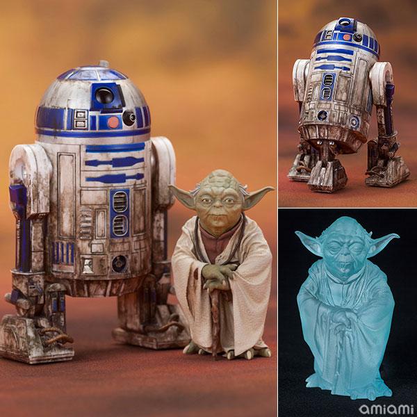 ARTFX+ スター・ウォーズ エピソード5/帝国の逆襲 ヨーダ & R2-D2 ダゴバパック 1/10 簡易組立キット[コトブキヤ]《在庫切れ》