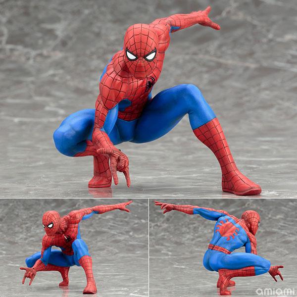 【中古】(本体B+/箱B)ARTFX+ ジ・アメイジング スパイダーマン MARVEL NOW! 1/10 簡易組立キット[コトブキヤ]《在庫切れ》