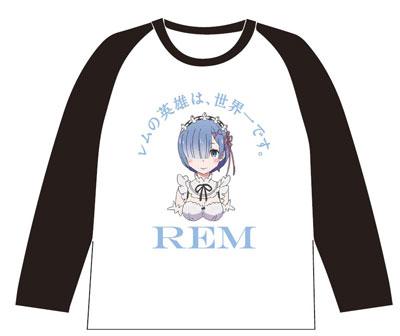 Re:ゼロから始める異世界生活 レムの英雄は、世界一です。ラグランTシャツ XL(再販)[グルーヴガレージ]《取り寄せ※暫定》