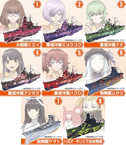 劇場版 蒼き鋼のアルペジオ -アルス・ノヴァ- Cadenza 霧の艦隊モデル2 10個入りBOX(食玩)(再販)[エフトイズ]《在庫切れ》