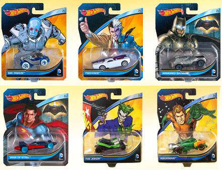 『DCコミックス』【ホットウィール】1/64スケール「デザイナーズ」 ウェーブ1 6個入りアソート[マテル]《在庫切れ》