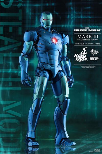【中古】(本体B+/箱B)ムービー・マスターピース DIECAST アイアンマン 1/6 アイアンマン・マーク3(ブルー・ステルス版)(MARVEL原宿ポップアップストア限定)[ホットトイズ]《発売済・在庫品》