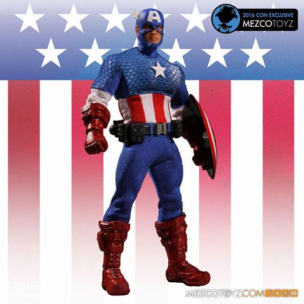 ワン12コレクティブ/ マーベルユニバース: コンベンション限定 キャプテン・アメリカ 1/12 アクションフィギュア クラシック ver