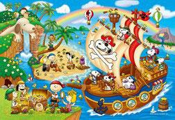 ジグソーパズル スヌーピー パイレーツスヌーピーの大冒険 300ピース (48-795)[アポロ社]《在庫切れ》