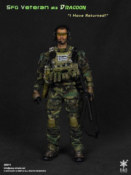 1/6 陸軍SFGベテランAkaドラグーン (ES-26011)
