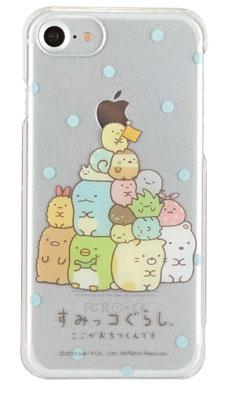 すみっコぐらし iPhone7対応 ハードケース しゅうごう (SMK-21B)[グルマンディーズ]《在庫切れ》