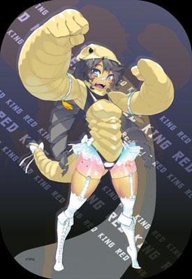 ウルトラ怪獣擬人化計画 怪獣娘 スクエア缶バッジ レッドキング[つくり]《在庫切れ》