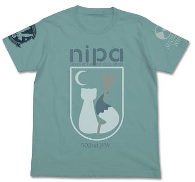 ブレイブウィッチーズ ニパ パーソナルマークTシャツ/セージブルー-XL(再販)[コスパ]《10月予約》