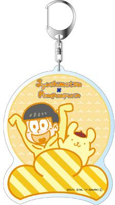おそ松さん×Sanrio Characters デカキーホルダー 十四松×ポムポムプリン B[コンテンツシード]《在庫切れ》