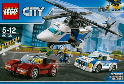 レゴ シティ ポリスヘリコプターとポリスカー