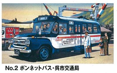 オーナーズクラブ 1/32 No.2 ボンネットバス 呉市交通局 プラモデル(再販)[マイクロエース]《在庫切れ》