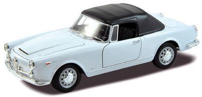 1/24 アルファロメオ スパイダー 2600 ソフトトップ 1960(ホワイト)[WELLY]《在庫切れ》