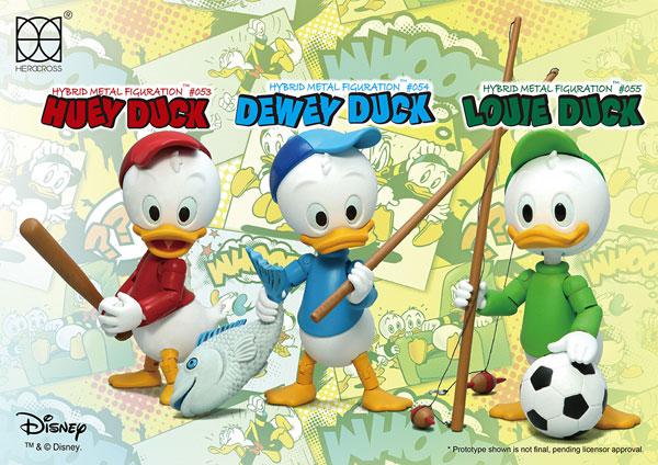 ハイブリッド・メタル・フィギュレーション #053-055 『ディズニー』ヒューイ&デューイ&ルーイ 3体セット