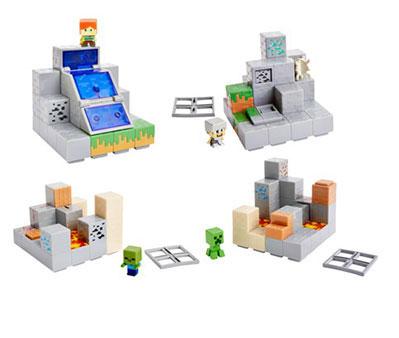 マインクラフト ミニフィギュア プレイセット 4個入りアソート