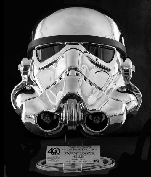 スター・ウォーズ 1/1スケールヘルメットレプリカ ストームトルーパー スター・ウォーズ40周年記念クロムメッキ版