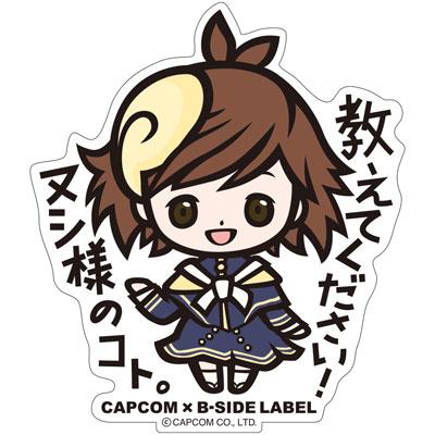 CAPCOM×B-SIDE LABELステッカー めがみめぐり ツクモ[B-SIDE LABEL]《在庫切れ》