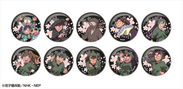 忍たま乱太郎 夜桜キラキラ缶バッジコレクション 第一弾 10個入りBOX[アトリエ・マギ]《在庫切れ》