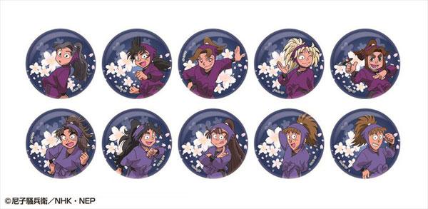 忍たま乱太郎 夜桜キラキラ缶バッジコレクション 第二弾 10個入りBOX[アトリエ・マギ]《在庫切れ》