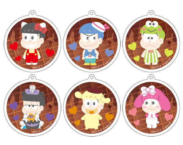 おそ松さん×Sanrio Characters リフレクションキーホルダー チョコレートver 6個入りBOX[コンテンツシード]《在庫切れ》